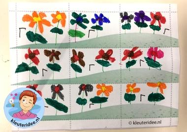 Postzegels ontwerpen met kleuters, thema post, kleuteridee.