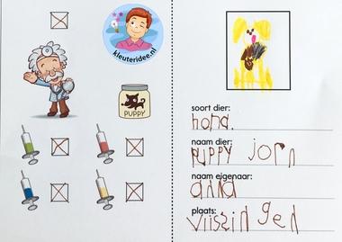 dierenpaspoort knutselen, thema de hond, kindergarten dog theme, pet passport, kleuteridee 2