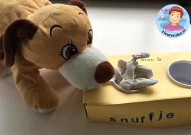 Hondenbak met botjes knutselen, thema de hond, kindergarten dog theme, kleuteridee 3