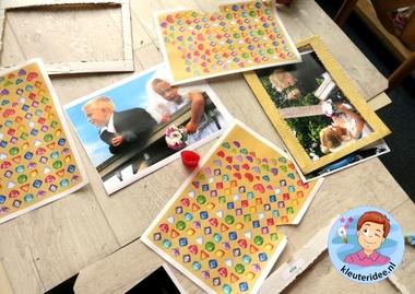 Kleuters maken een gouden lijst voor hun bruidsfoto 5, kleuteridee.nl, thema fotograaf, Kindergarten Photgrapher theme.