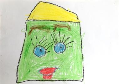 Teken een fantasie-oog met kleuters, kleuteridee, thema het oog, Kindergarten eye theme 4.