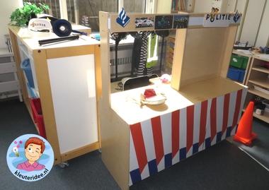 Rollenspel met kleuters, thema politie, politiebureau, kleuteridee.nl, Kindergarten , Police theme