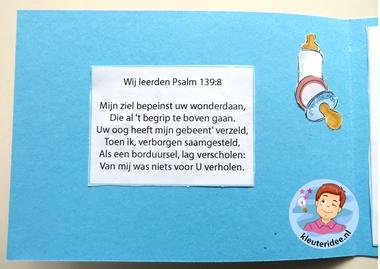 Geboortekaartjes maken 2, thema baby, kleuteridee.nl, Kindergarten baby theme