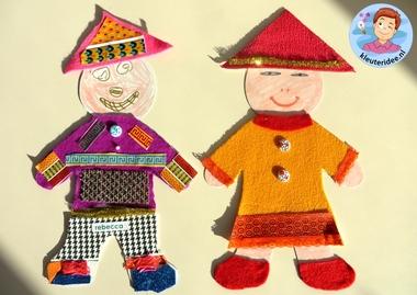 Chinezen knutselen met kleuters, thema China, kleuteridee