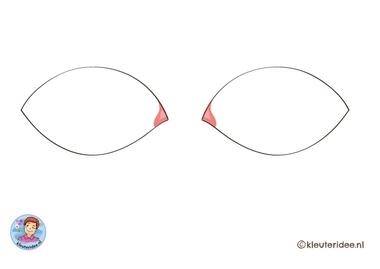 oog om te knutselen voor oogpleister, kleuteridee, free printable