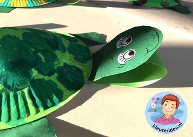 schildpad knutselen, kleuteridee, met gratis download 3