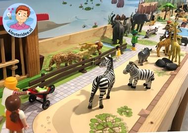 Speelmatten dierentuin, kleuteridee 9.