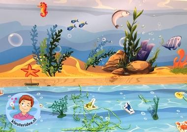 Speeltafel onder water voor kleuters, thema water, kleuteridee 2