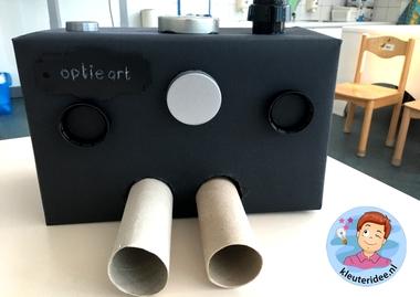 Themahoek opticien voor kleuters, kleuteridee, ogen meten, thema het oog, kindegarten optician role play, eye theme 3.