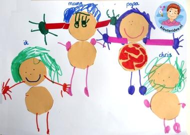 Ons gezin, thema baby voor kleuters, Kindergarten craft, my family craft, kleuteridee.nl
