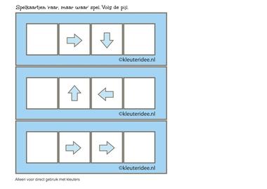 Raar, maar waar spel, 2 pijlen leeg, volg de pijl, kleuteridee.nl, free printable.