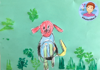 hond tekenen stap voor stap, thema de hond, kindergarten dog theme, draw a dog step by step, kleuteridee 6