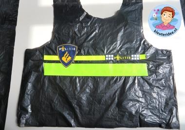Politiehes knutselen met kleuters 2, met gratis download, Kindergarten police theme, kleuteridee