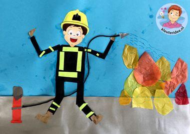 brandweer knutselen, thema brandweer
