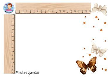 vlinders opmeten, kleuteridee