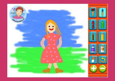 Online verven, tekenen en kleuren, spel, kleuters online. kleuteridee