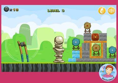 katapult, online spel, kleuteridee