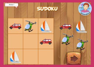 Sudoku vervoer, kleuteridee