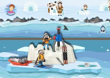 Speelmat Noordpool Zuidpool, speeltafel, kleuteridee