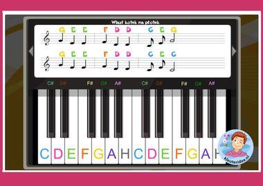 Liedje spelen voor de piano, kleuteridee