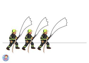 spuitwerkje brandweer kleuteridee