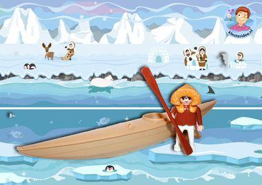 Speelmatten Noordpool Zuidpool, kleuteridee pinguins eskimo 3