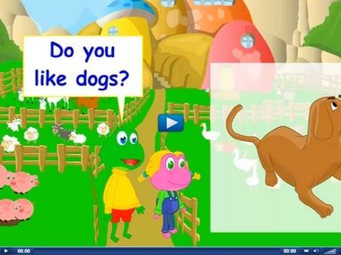 Engels leren aan kleuters met het digibord , kleuteridee.nl . do you like dogs, yes I do, no I don't