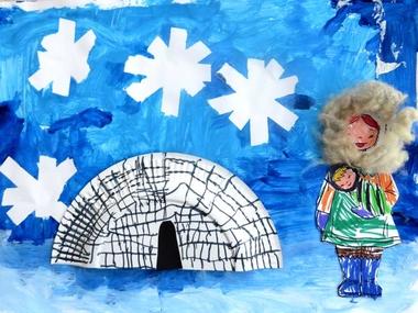 Collage Noordpool voor kleuters, met werkbeschrijving 1, kleuteridee.nl