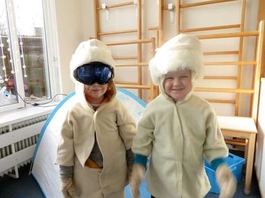 Noordpool hoek skibril, North pole role play area, kleuteridee.nl