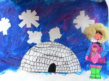 Collage Noordpool voor kleuters, met werkbeschrijving 2, kleuteridee.nl