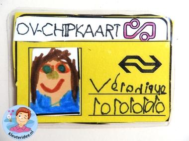 OV-chipkaartvoor kleuters, thema de trein, kleuteridee, met gratis download 2