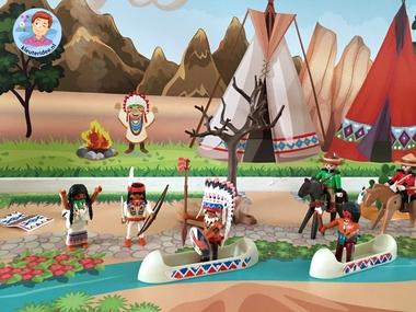 speelmatten indianen kleuteridee 2 k