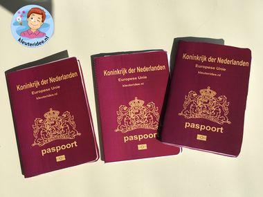 Paspoort maken van papier, thema Nederland, Kleuteridee