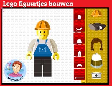 Lego figuurtjes maken met kleuters op digibord of computer op kleuteridee.nl, Kindergarten, educative games for IBW or computer