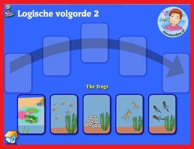 Logische volgorde 2 met kleuters op digibord of computer op kleuteridee.nl