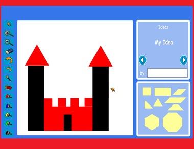 Interactive mozaïek voor kleuters, kleuters op het digibord op kleuteridee.nl
