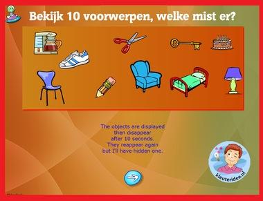 Geheugenspel met kleuters op digibord of computer op kleuteridee.nl