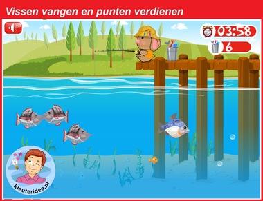 Vissen vangen voor kleuters voor digibord of computer, kleuteridee