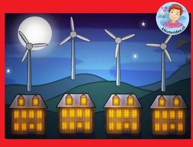 Windenergie met kleuters op digibord of computer op kleuteridee.nl