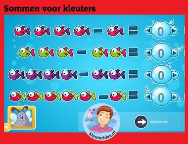 Sommen voor kleuters op digibord of computer op kleuteridee.nl