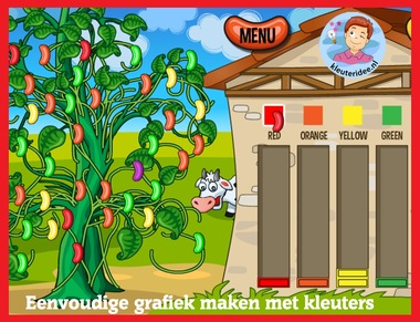 Eenvoudige grafiek maken met kleuters op digibord of computer op kleuteridee.nl, Kindergarten math game for IBW or computer