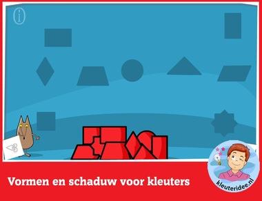 Vormen en schaduwen met kleuters rekenen met digibord of computer op kleuteridee.nlVormen en schaduwen met kleuters rekenen met digibord of computer op kleuteridee.nl