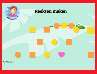 Reeksenrups op digibord of computer op kleuteridee.nl