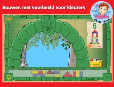 Online bouwen met voorbeeld voor kleuters, rekenen met digibord of computer op kleuteridee.nl, digibord algemeen