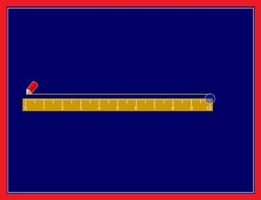 Teken een lijn en meet hem op, kleuters op het digibord, op kleuteridee.nl
