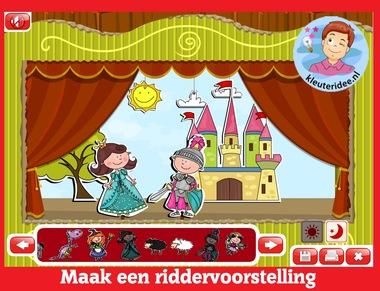 Maak een riddervoorstelling, kleuters op digibord of computer op kleuteridee.nl