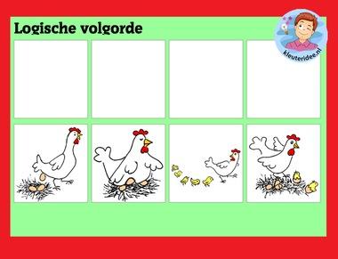 Logische volgorde met kleuters op digibord of computer op kleuteridee.nl