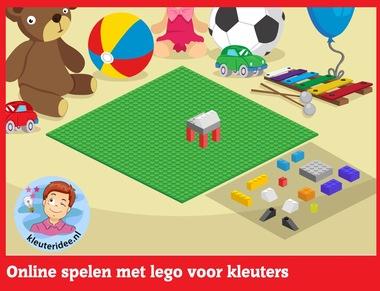 Online spelen met lego voor kleuters op digibord of computer op kleuteridee.nl - Kindergarten educative game for IBW or computer