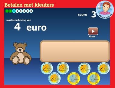 betalen met kleuters op digibord of computer , kleuteridee.nl, heel veel digitale rekenspellen