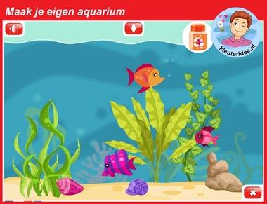 Maak je eigen aquarium voor kleuters voor digibord of computer, kleuteridee